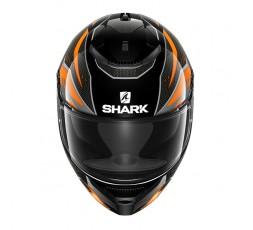Casco moto integral SPARTAN modelo ANTHEON de SHARK color naranja vista de frente