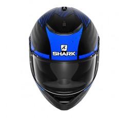 Casco moto integral SPARTAN modelo KOBRAK de SHARK color azul vista de frente