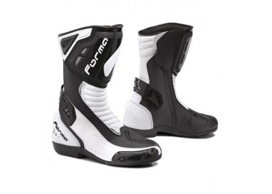 Botas de moto unisex uso circuito o deportivo FRECCIA de FORMA color blanco