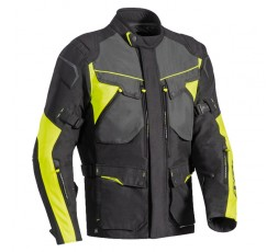 Chaqueta moto uso Touring, Aventura, Ruta CROSSTOUR de Ixon color amarillo vista de frente