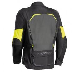 Chaqueta moto uso Touring, Aventura, Ruta CROSSTOUR de Ixon color amarillo vista trasera