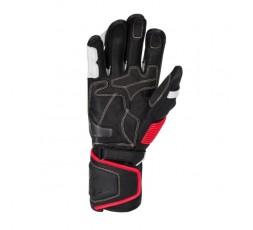 Guantes moto para uso deportivo PRO-R de bering color negro blanco y rojo vista palma