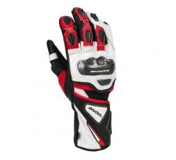Guantes moto para uso deportivo PRO-R de bering color negro blanco y rojo