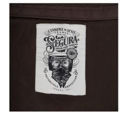 Chaqueta moto de verano OSKAR de SEGURA color marrón detalle