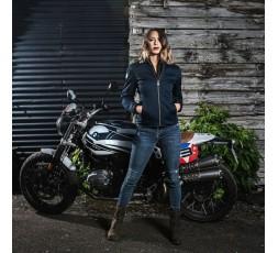 Woman motorcycle jacket LADY GARRISSON by Segura blue 3