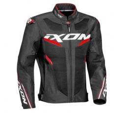 Chaqueta moto de verano ultra-ventilada DRACO de Ixon negro y rojo 1