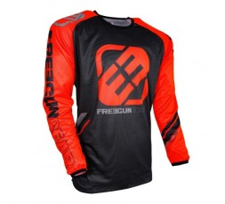 Camiseta moto para uso Off Road, Motorista, Enduro, Mx FREEGUN GEAR DEVO COLLEGE de Shot naranja 1