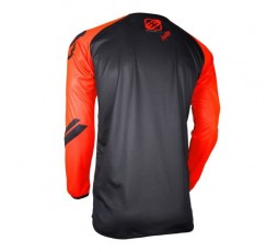 Camiseta moto para uso Off Road, Motorista, Enduro, Mx FREEGUN GEAR DEVO COLLEGE de Shot naranja 2