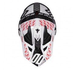 Casco integral uso Off Road, Motocross, Aventura LITE RUSH de SHOT blanco y rojo 2