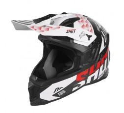 Casco integral uso Off Road, Motocross, Aventura LITE RUSH de SHOT blanco y rojo 1