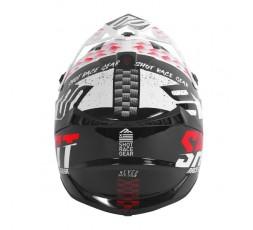 Casco integral uso Off Road, Motocross, Aventura LITE RUSH de SHOT blanco y rojo 3