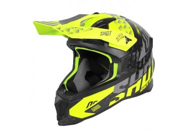 Casco integral uso Off Road, Motocross, Aventura LITE RUSH de SHOT negro y amarillo 1