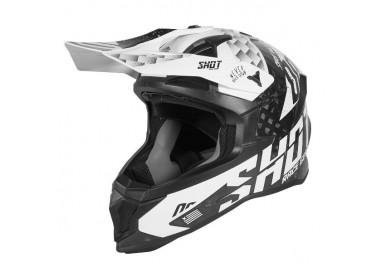 Casco integral uso Off Road, Motocross, Aventura LITE RUSH de SHOT negro y blanco 1