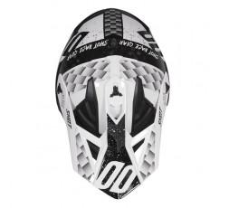 Casco integral uso Off Road, Motocross, Aventura LITE RUSH de SHOT negro y blanco 2