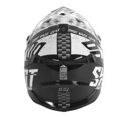 Casco integral uso Off Road, Motocross, Aventura LITE RUSH de SHOT negro y blanco 3
