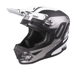 Casco integral para uso Off road, Motocross, Aventura FURIOUS SHADOW de Shot blanco 1