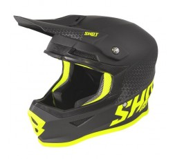 Casco integral uso Off road, Motocross, Aventura modelo FURIOUS RAW de Shot negro y  amarillo