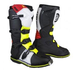 Botas moto uso Off road, Motocross, Aventura X10 BOOTS de Shot amarillo blanco y rojo
