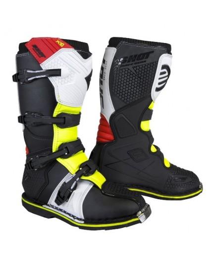 Bottes de moto modèle X10 pour utilisation Off road, Motocross, MX, Enduro de Shot