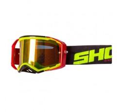 Gafas de protección para casco de moto LITE de Shot negro y amarillo