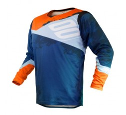 Camiseta uso Off Road, Motocross, Enduro, Aventura MX GEAR CONTACT SHADOW de Shot azul 1