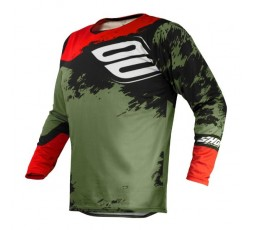 Camiseta uso Off Road, Motocross, Enduro, Aventura MX GEAR CONTACT SHADOW de Shot kaki 1