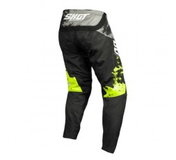 Pantalones moto uso Off Road, Motocross, Enduro, MX GEAR CONTACT SHADOW de Shot amarillo 2