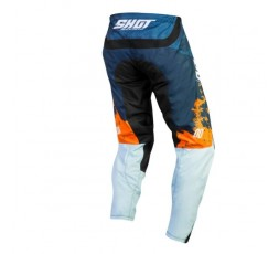 Pantalones moto uso Off Road, Motocross, Enduro, MX GEAR CONTACT SHADOW de Shot azul 2