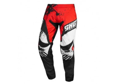 Pantalones moto uso Off Road, Motocross, Enduro, MX GEAR CONTACT SHADOW de Shot rojo 1