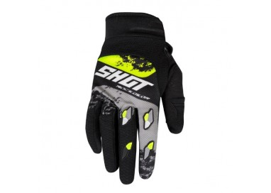Guantes moto uso Off Road, Motocross, Enduro, MX GEAR CONTACT SHADOW de Shot amarillo 1