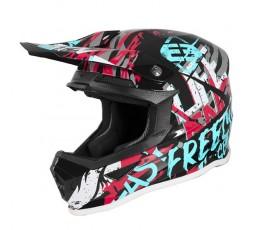 Casco integral niños uso Off road, Motocross, MX, Aventura XP4 KID MANIAC de SHOT turquesa 1