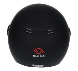 Casco abierto económico ideal para contenedor pequeño SH-62 GS de SHIRO negro mate 4