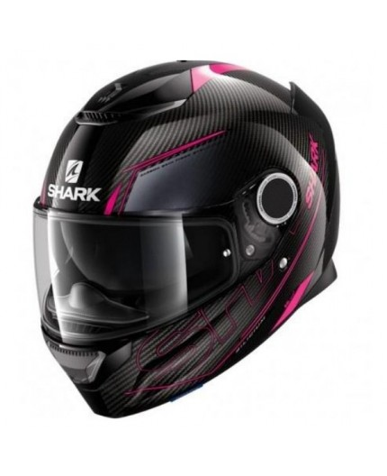 Full-face helmet CARBON SPARTAN SILICIUM de Shark blakc and fushia