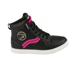 Urban motorcycle boots LADY STARS EVO by BERING black and pink