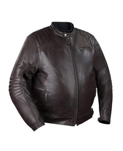 Chaqueta moto en cuero talla grande KING SIZE BRUCE de BERING
