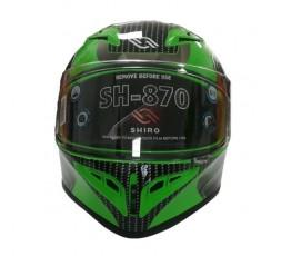 Casco integral SH-870 GO! de SHIRO verde3