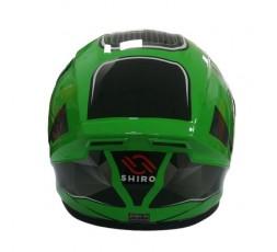 Casco integral SH-870 GO! de SHIRO verde4