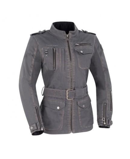 Veste de moto Automne /Hiver modèle LADY WOODSTOCK de Segura est utilisée pour Cafe Racer, Vintage, Retro, Urban