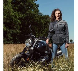 Chaqueta moto otoño/invierno uso Cafe Racer, Vintage, Retro, Urbano modelo LADY WOODSTOCK de Segura 5