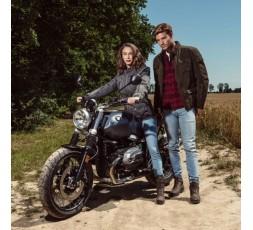 Veste de moto Automne /Hiver modèle LADY WOODSTOCK de Segura est utilisée pour Cafe Racer, Vintage, Retro, Urban 6
