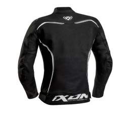 Women's motorcycle jacket in combined textile leather TRINITY by IXON black and white 2