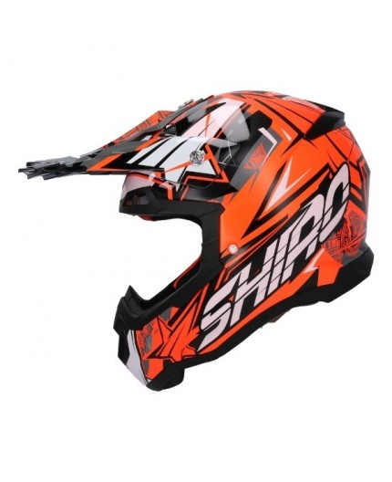 Helmet use OFF ROAD model THUNDER III MX-917 by SHIRO