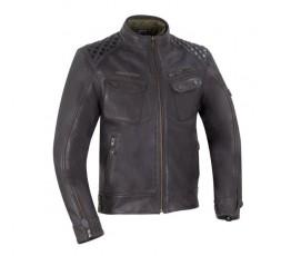 Blouson moto en cuir marron Barrington de Segura1