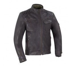 Brown leather motorcycle jacket Barrington by Segura 1