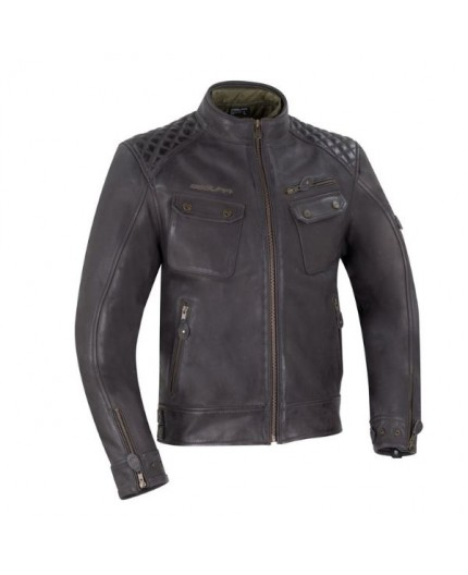 Brown leather motorcycle jacket Barrington by Segura