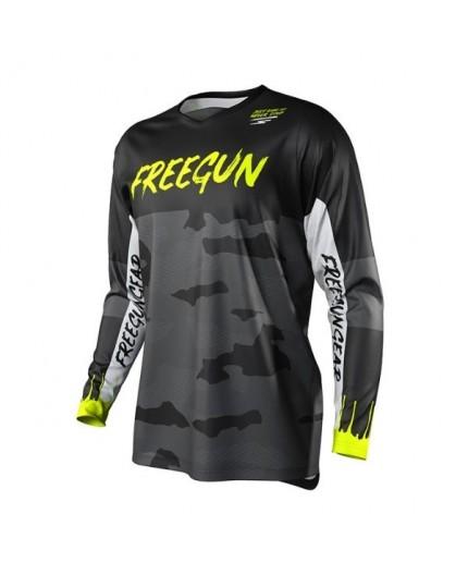 T-shirt pour utilisation Off Road, Motocross, MX, Enduro FREEGUN GEAR DEVO CAMO de Shot