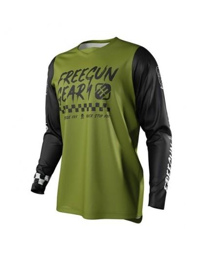 T-shirt pour utilisation Off Road, Motocross, Enduro, MX FREEGUN GEAR DEVO SPEED de Shot