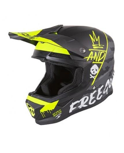 Full face helmet for use Off road, Motocross, MX, Adventure XP4 CAMO FREEGUN by SHOT