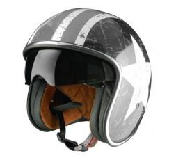 Open face helmet Urban, Vintage, Retro SPRINT style by ORIGINE Rebel Star grey 1