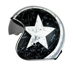 Open face helmet Urban, Vintage, Retro SPRINT style by ORIGINE Rebel Star grey 2